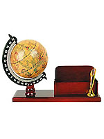 home decor, garden supply Include world globe with stand, globe with pen pencil, business card holder and globe bookends